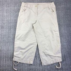 Izod Clam Digger Cotton Capris Sz 10